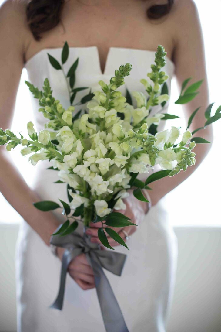 White Stock Bridal Bouquet