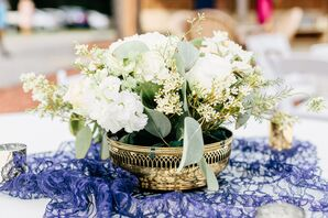 Natural Eucalyptus-Leaf Centerpiece With Stock
