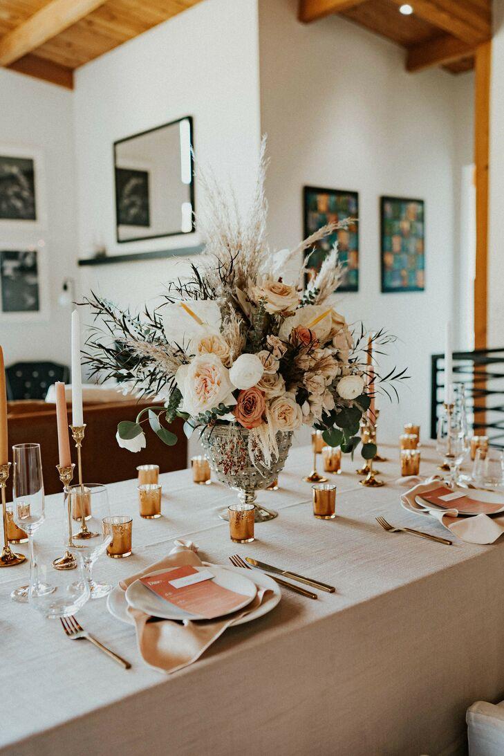 Boho Tablescape for Wedding in Asheville, North Carolina
