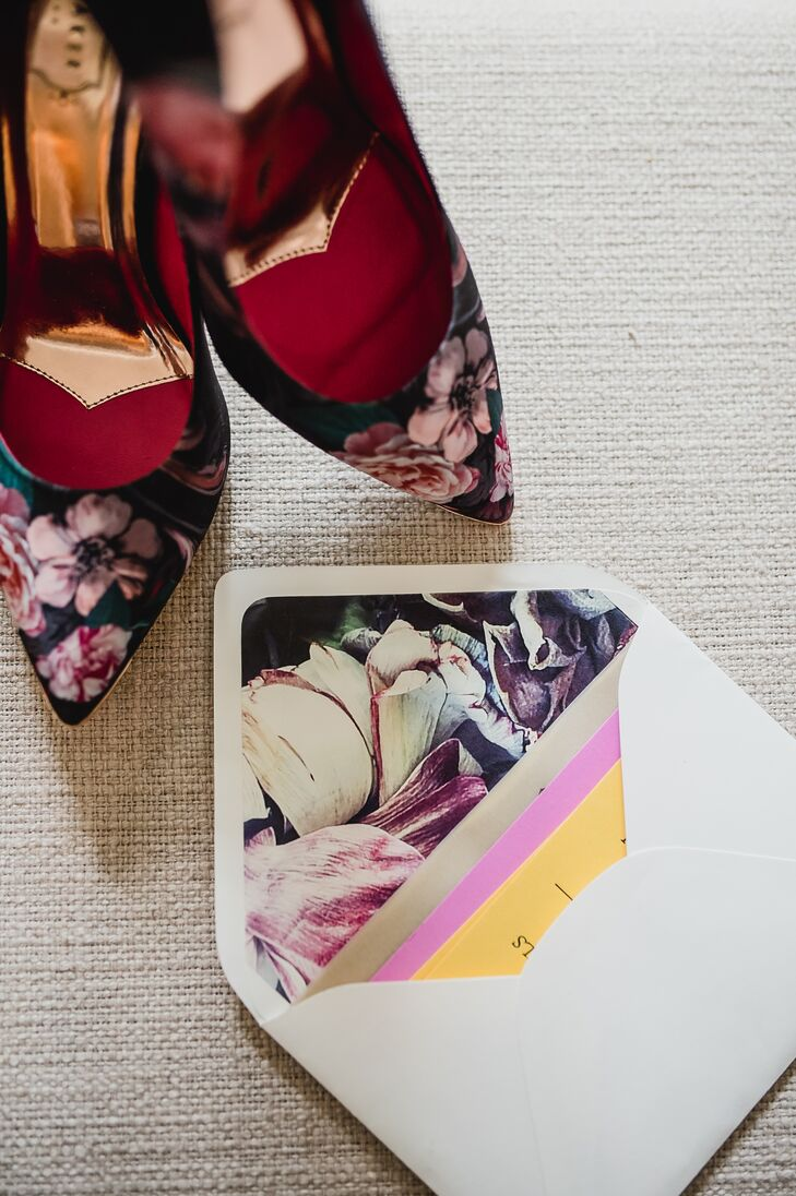 Dark Floral Heels and Envelope Liners