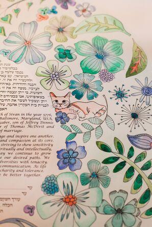 Colorful Illustrated Ketubah