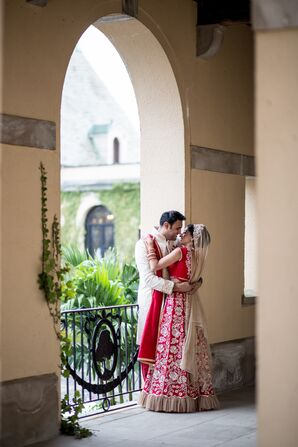 Traditional Red and Gold Lehenga