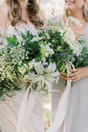Whimsical Bouquets of Baby's Breath and Leaves