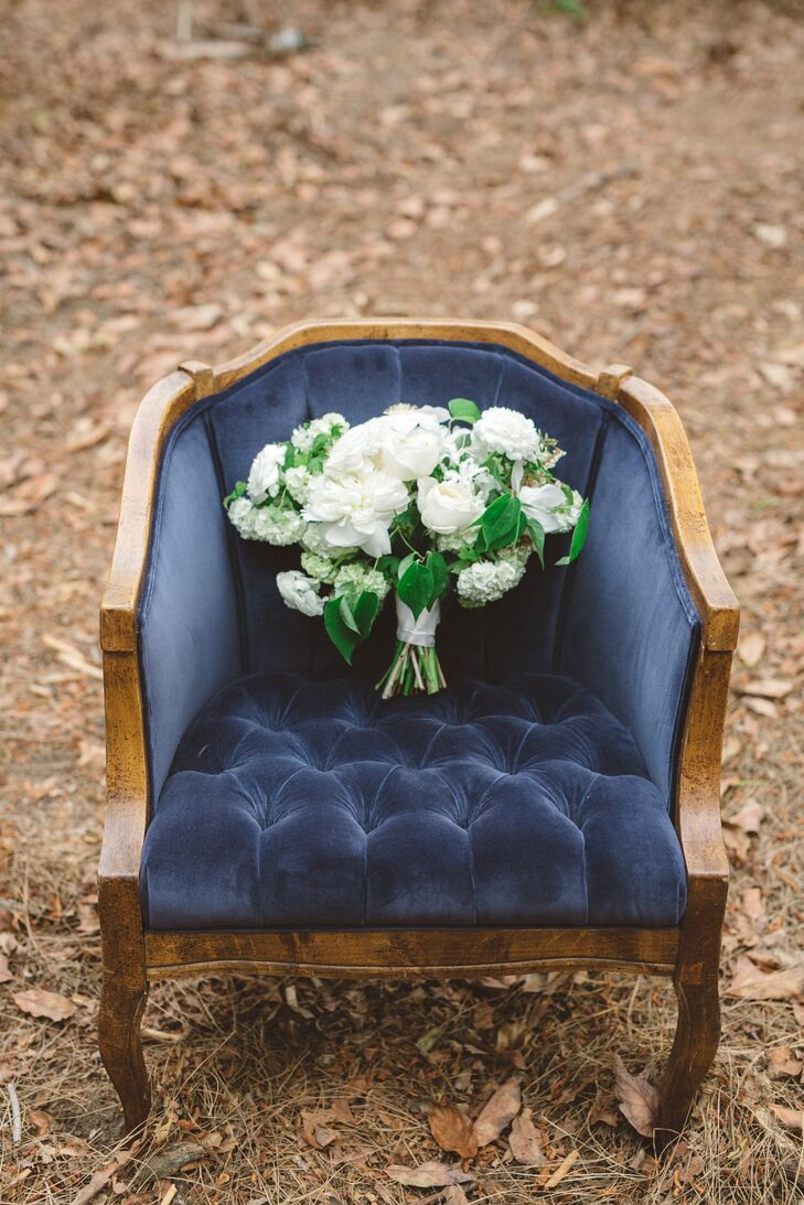 Ivory and Green Flower Bouquet