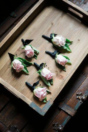 Classic Blush Rose Boutonnieres