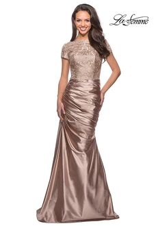 La Femme Evening 26404 Gold Mother Of The Bride Dress