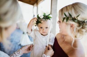 Baby With Flower Crown