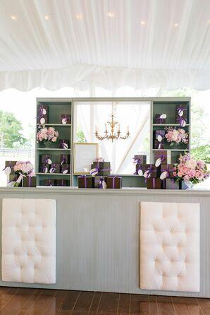 Gray and Purple Custom Bar Setup