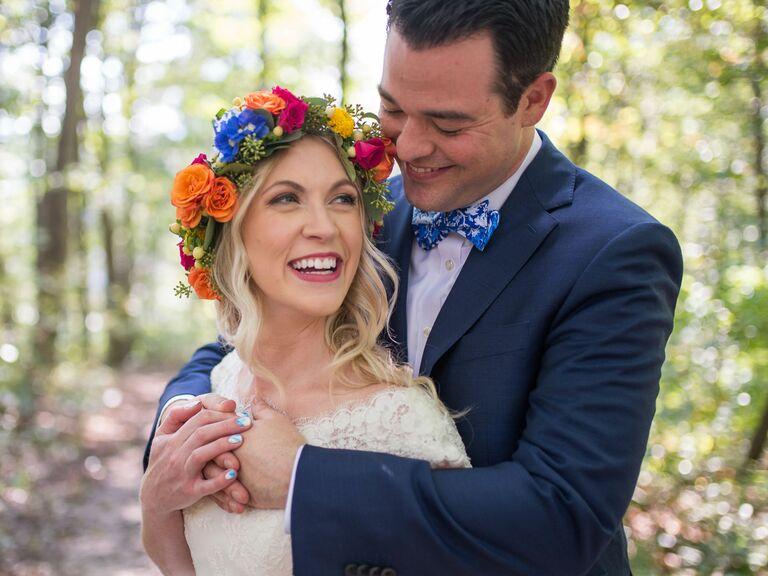 25. Vibrant Multicolor - Bridal Crowns