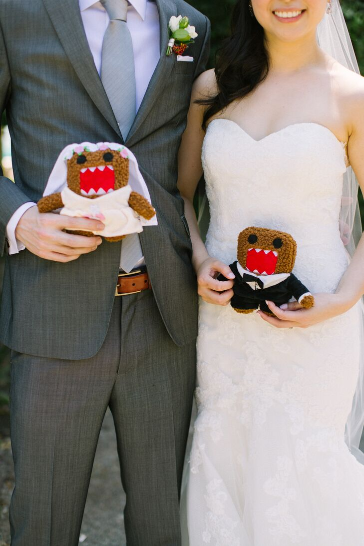 Stuffed Domo Bride and Groom