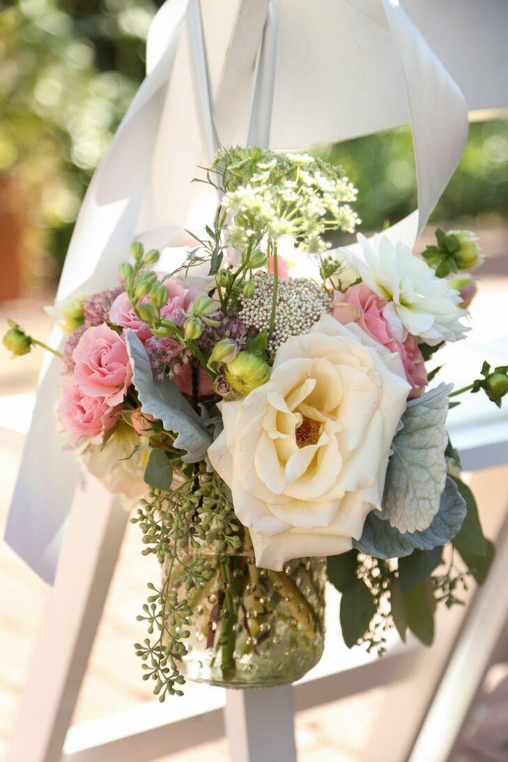 Soft Pastel Flower Aisle Decoration