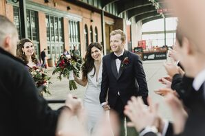 A Ceremony Recessional in The Liberty House Restaurant