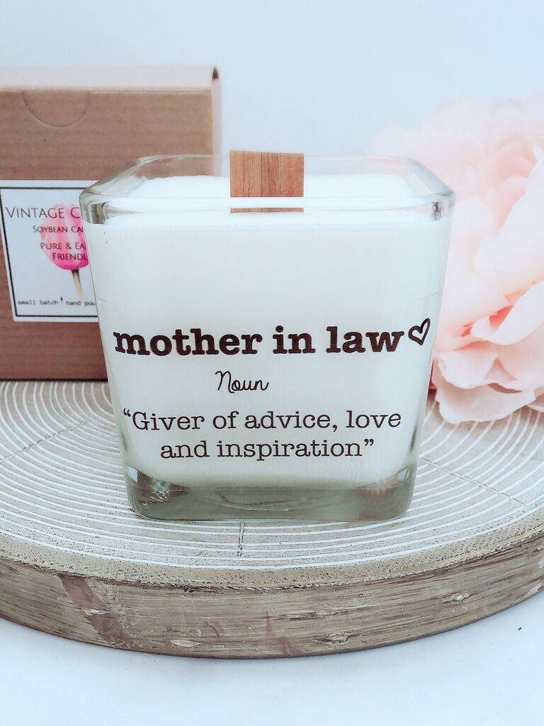 Mother-in-law candle wedding gift