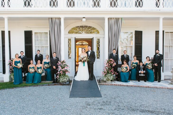 Strapless Turquoise Donna Morgan Gowns