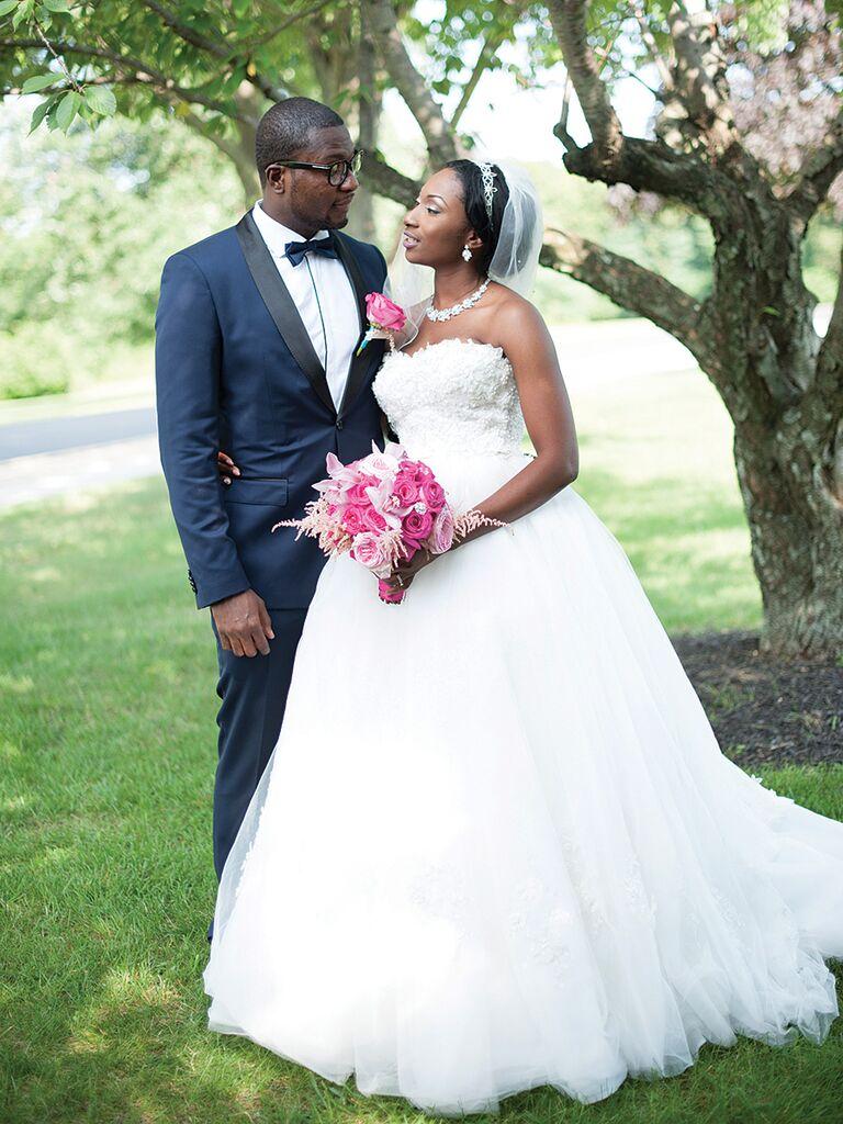 Dennis Basso wedding gown