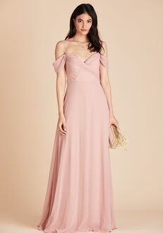 Birdy Grey Spence Convertible Dress in Rose Quartz V-Neck Bridesmaid Dress