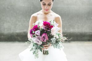 Purple and White Fall Bouquet