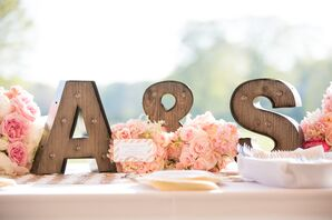 Wooden Initial Table Decorations