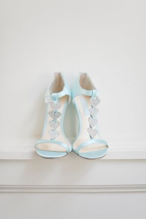 Whimsical Pale Blue Heart Heels