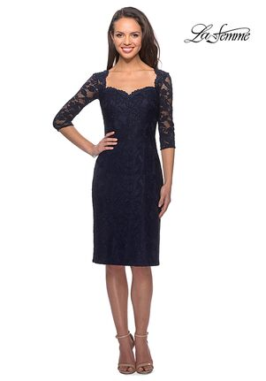 La Femme Evening 25527 Blue Mother Of The Bride Dress