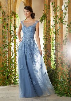 MGNY 71922 Blue Mother Of The Bride Dress