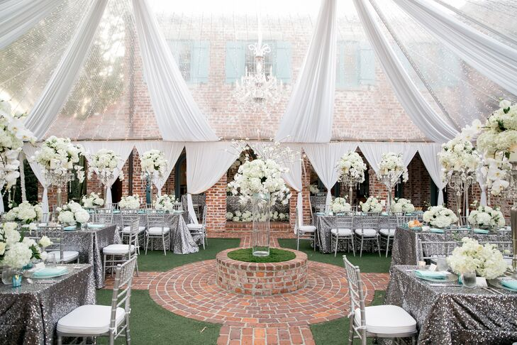 Glamorous Tented Reception at Casa Feliz in Winter Park, Florida