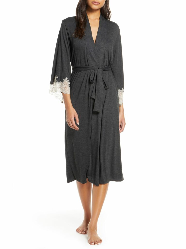 lace and silk robe