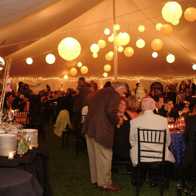 A wedding planner helped with the planning. The reception was held underneath a tent on the west lawn of the monument property.