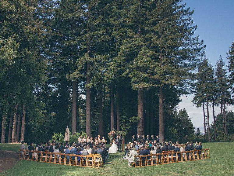 Wedding venue in Woodside, California.