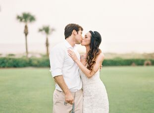 The beach was more than just a backdrop at this Ritz-Carlton wedding.  Channeling the calming ocean waves along Amelia Island, Florida, Sherry Broome