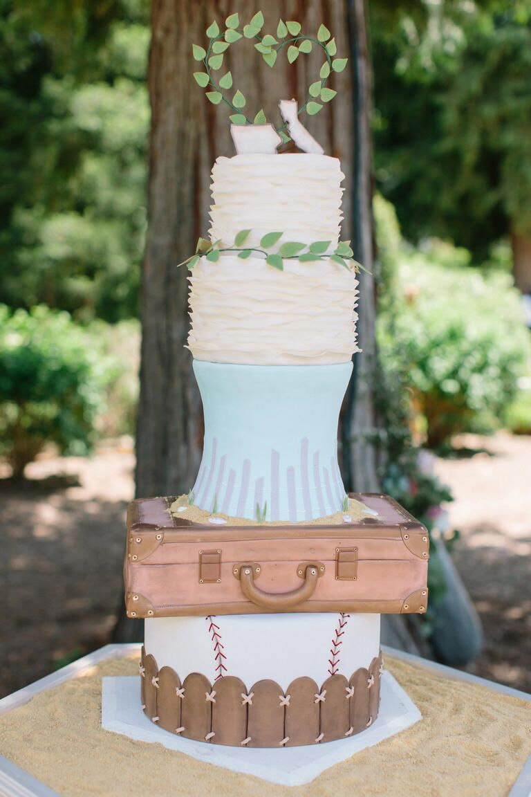 The Knot Dream Wedding Cake