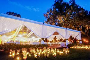 Tented Reception at Fenwick Hall in Johns Island, South Carolina