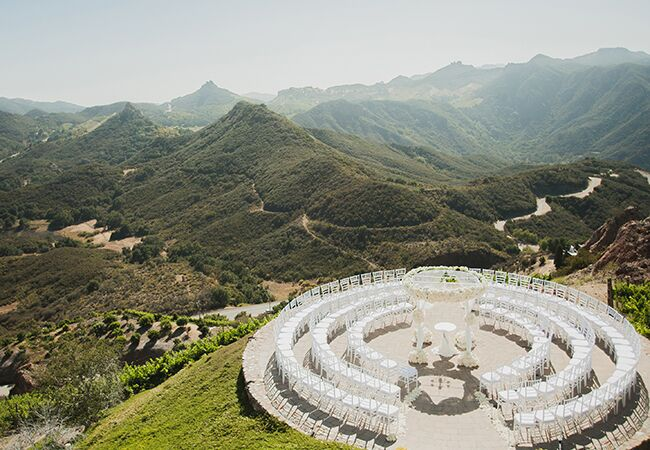 mountain top wedding ceremony | Luxury Estate Weddings & Events | Blog.theknot.com