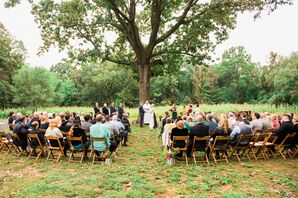 Intimate Backyard Ceremony with Tree Backdrop