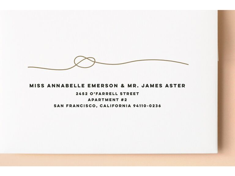 Love Knot engagement party invitations