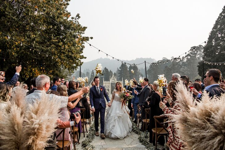 Whimsical Recessional at The Brazilian Room in Contra Costa County, California