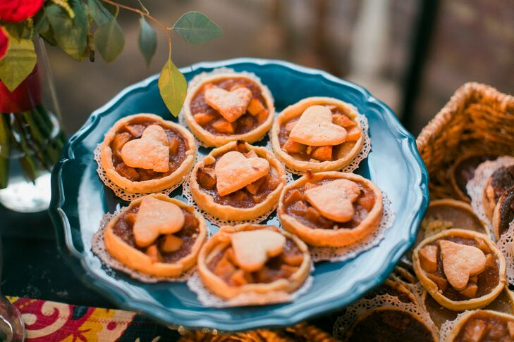 Neither Jordy nor Jared is particularly fond of cake, so instead, Jordy's grandmother made dozens of mini pies -- pumpkin, apple and chocolate pecan -- for dessert.
