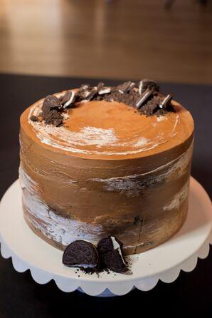 Cookies and Cream Chocolate Wedding Cake