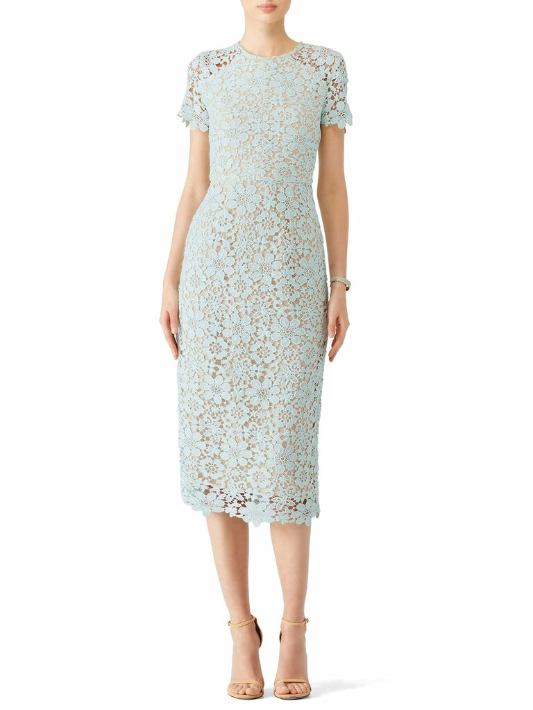 Shoshanna mint lace spring bridesmaid dress