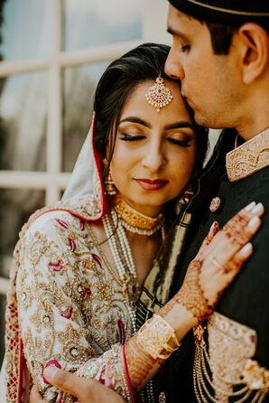 Bride with Ornate Jewelry and Henna