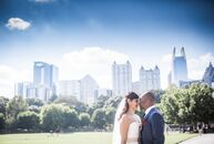 """rn                    """"We had a sort of traditional fall wedding with a twist,"""" says Aparna Kumar (31 and a health care consultant). She wed Kelechi N"""