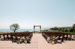 Waterfront Ceremony at Dos Pueblos Orchid Farm in California