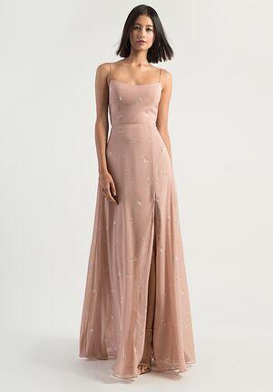 Jenny Yoo Collection (Maids) Kiara Ditsy Print Scoop Bridesmaid Dress