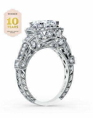 Kirk Kara Vintage Round Cut Engagement Ring