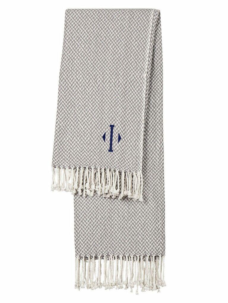 cozy monogram blanket