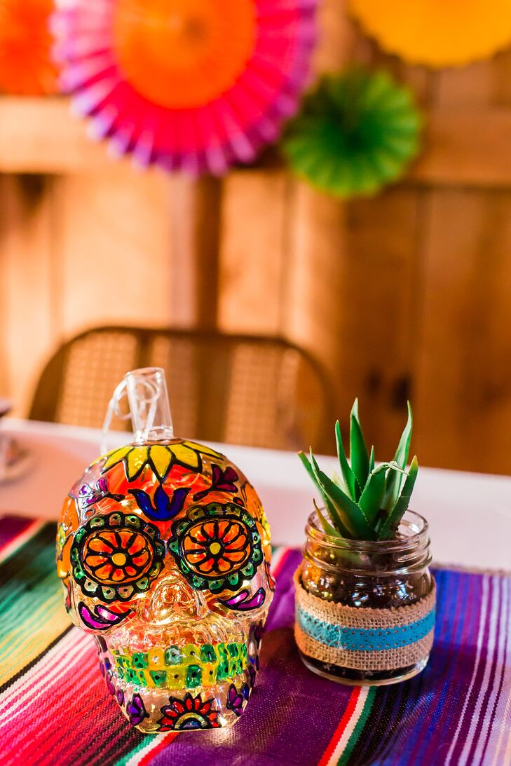 Bright Hand-Painted Crystal Sugar Skull
