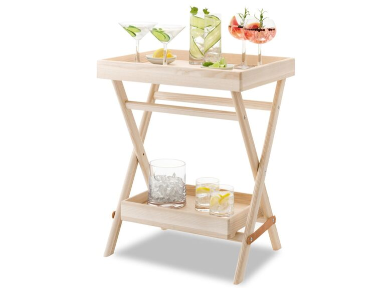 Wooden bar stand 16th anniversary gift
