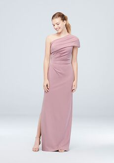 David's Bridal Collection DB STUDIO Style AP2E205030 One Shoulder Bridesmaid Dress