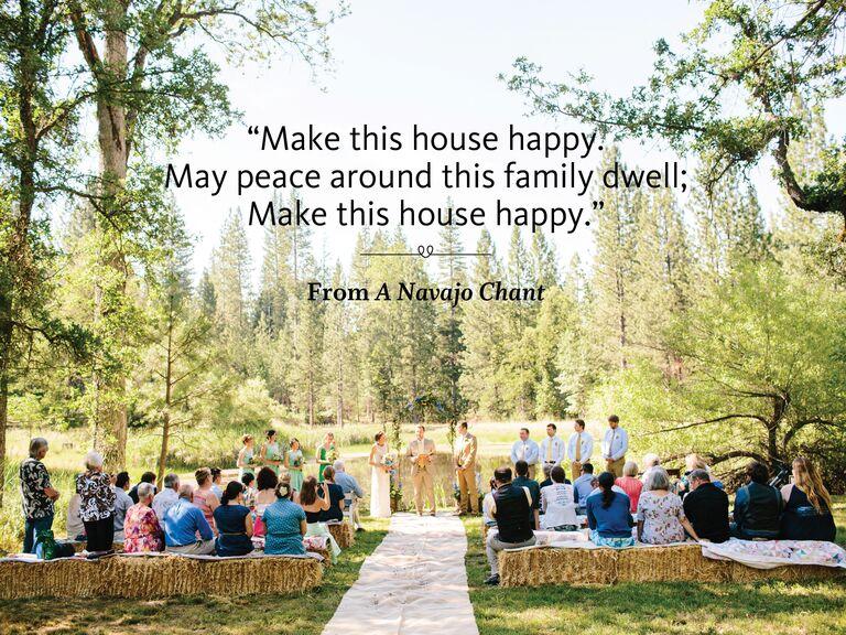 A Navajo Chant wedding ceremony