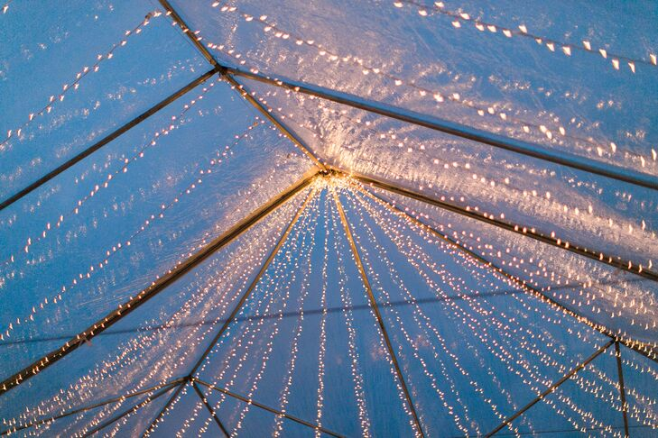 Clear Top Reception Tent with Stringlights